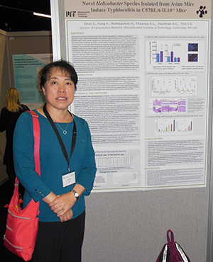 Dr. Zeli Shen at an AALAS Conference