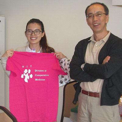 Nianshuang Li with Dr. Zhongming Ge