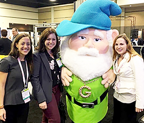 Caroline Bodi, Kathleen Scott, and Erin Bryant at AALAS Charlotte, NC 2016