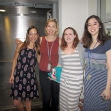 left to right: Caroline Winn, Monika Burns, Erin Bryant and Susanna Kurnick