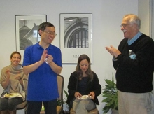 left to right: Monika Burns, Chuanwu Wang, Caroline Bodi Winn and Dr. Fox