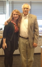 Stephanie E. Woods with Dr. Fox, 2014